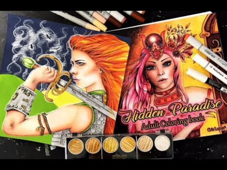 Coloring in New Book Hidden Paradise - YouTube - hidden paradise coloring book