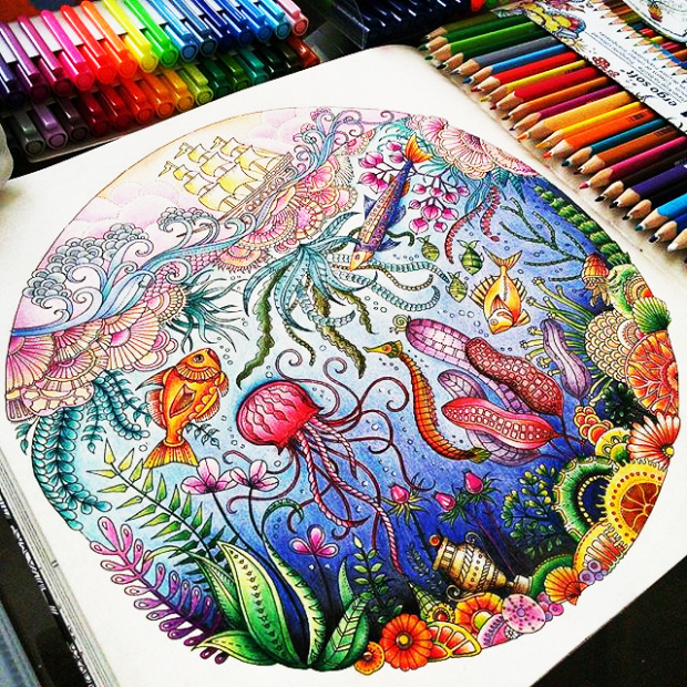 """Colour yourself happy with the colouring book """"Lost Ocean"""" by .."""