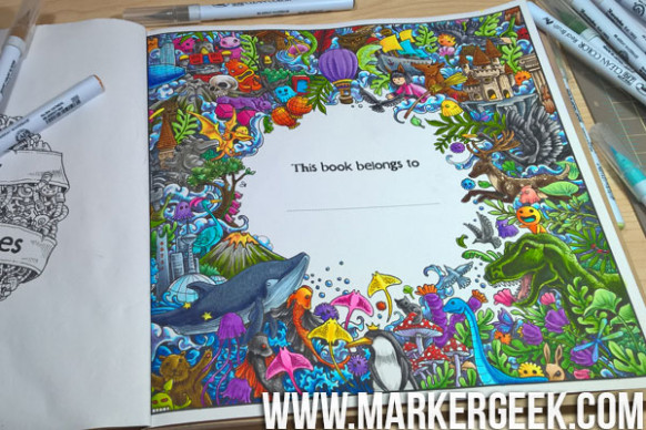 Colouring Book Therapy: Colouring Imagimorphia with Zig Clean Color ..