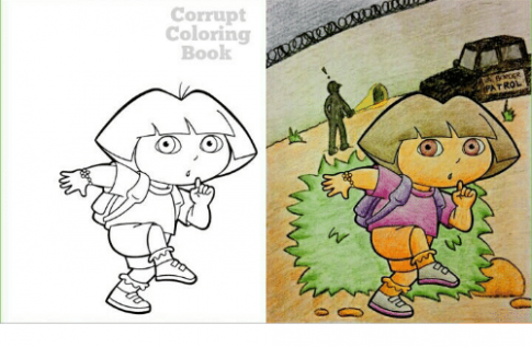 Corrupt Coloring Book PATROL | Book Meme on ME