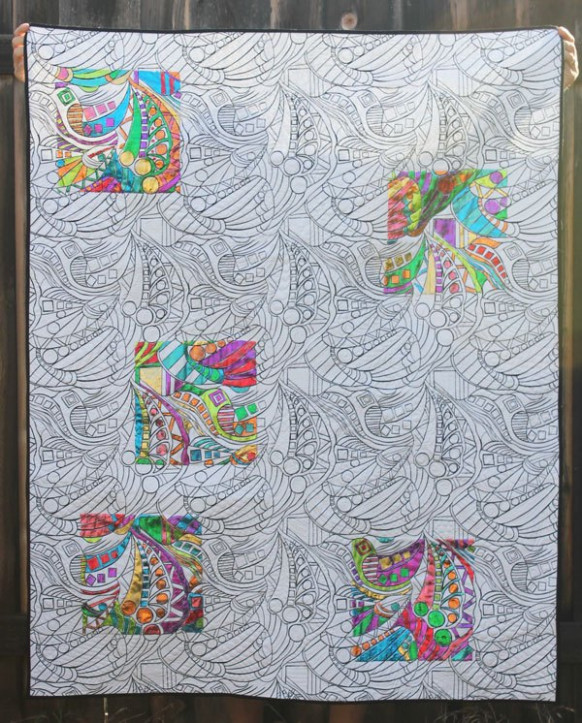 Create a Deco Foil Coloring Book Quilt - Therm O Web