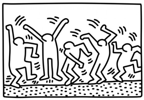 Dancing Figures by Keith Haring coloring page | Free Printable ...