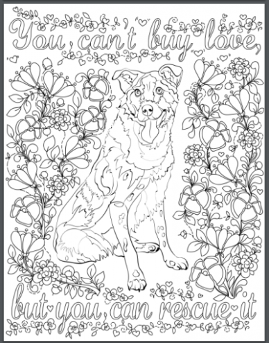 De-stress With Dogs: Downloadable 19 Page Coloring Book for Adults ...