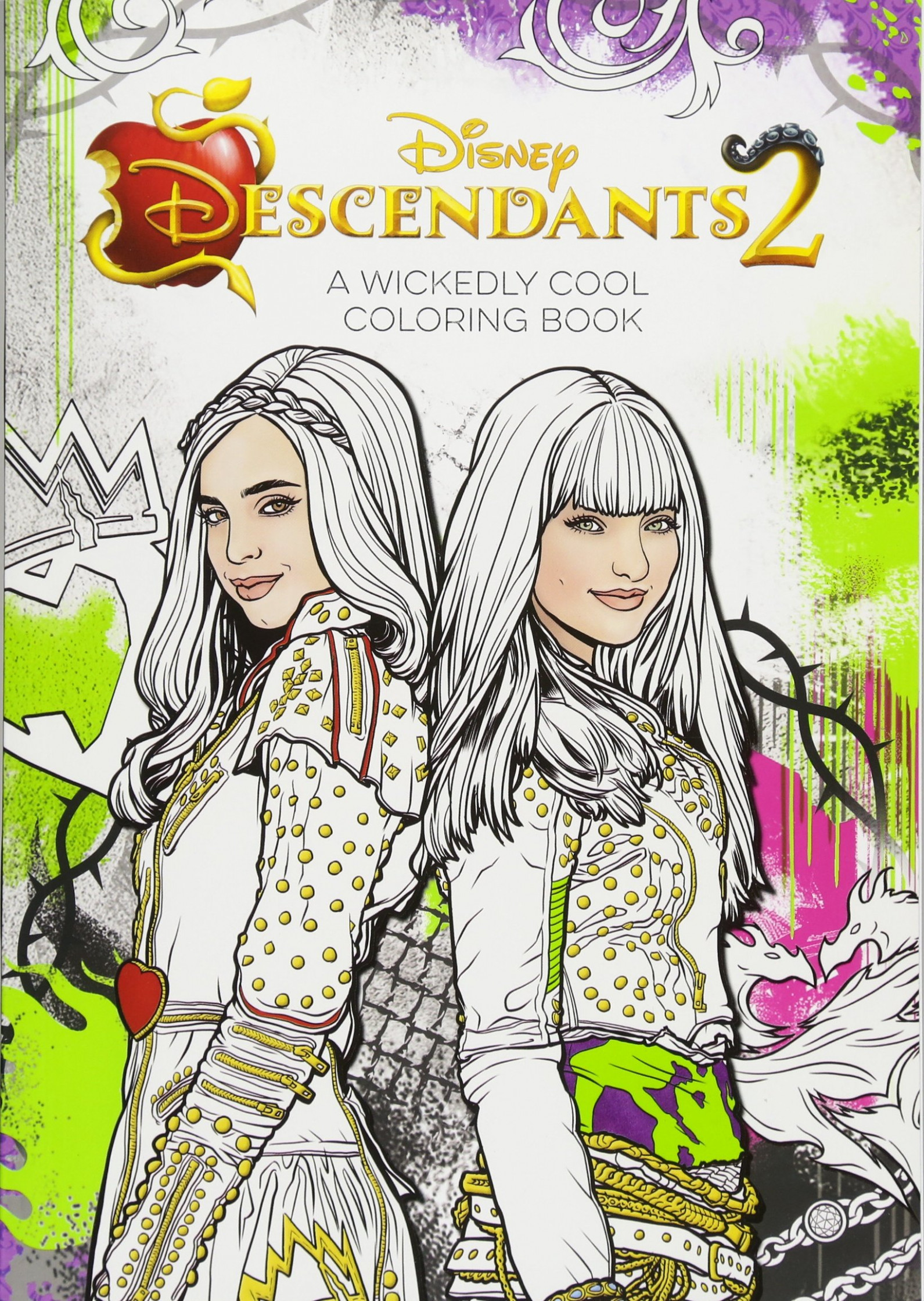 Descendants 19 A Wickedly Cool Coloring Book Art of Coloring: Amazon ...