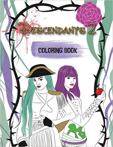 Descendants 19 Coloring Book: A Wickedly Cool Coloring Book for Kids ...