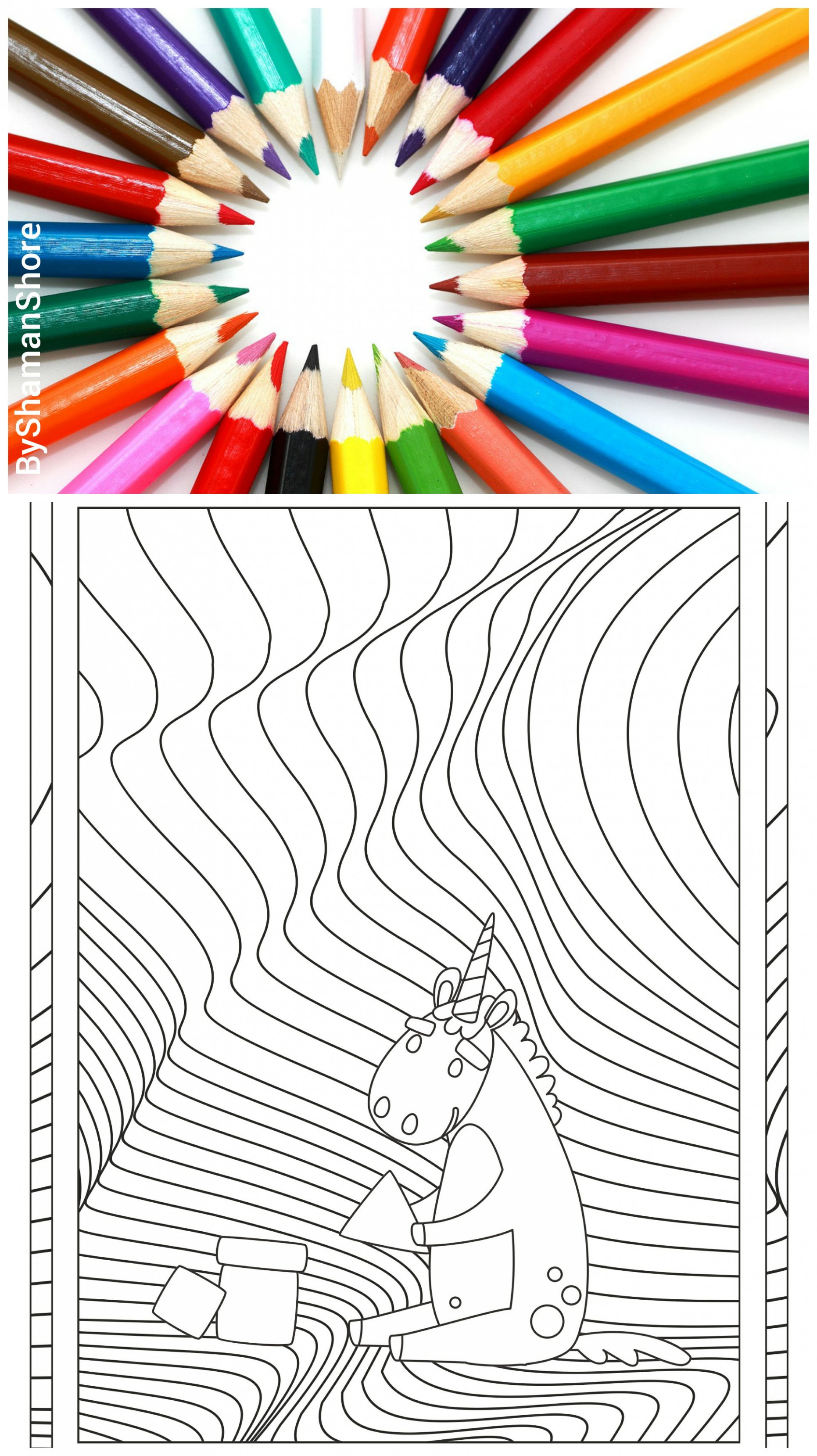 Digital Adult Coloring Book Pdf, 12 Unicorn Adult Coloring Pages ..