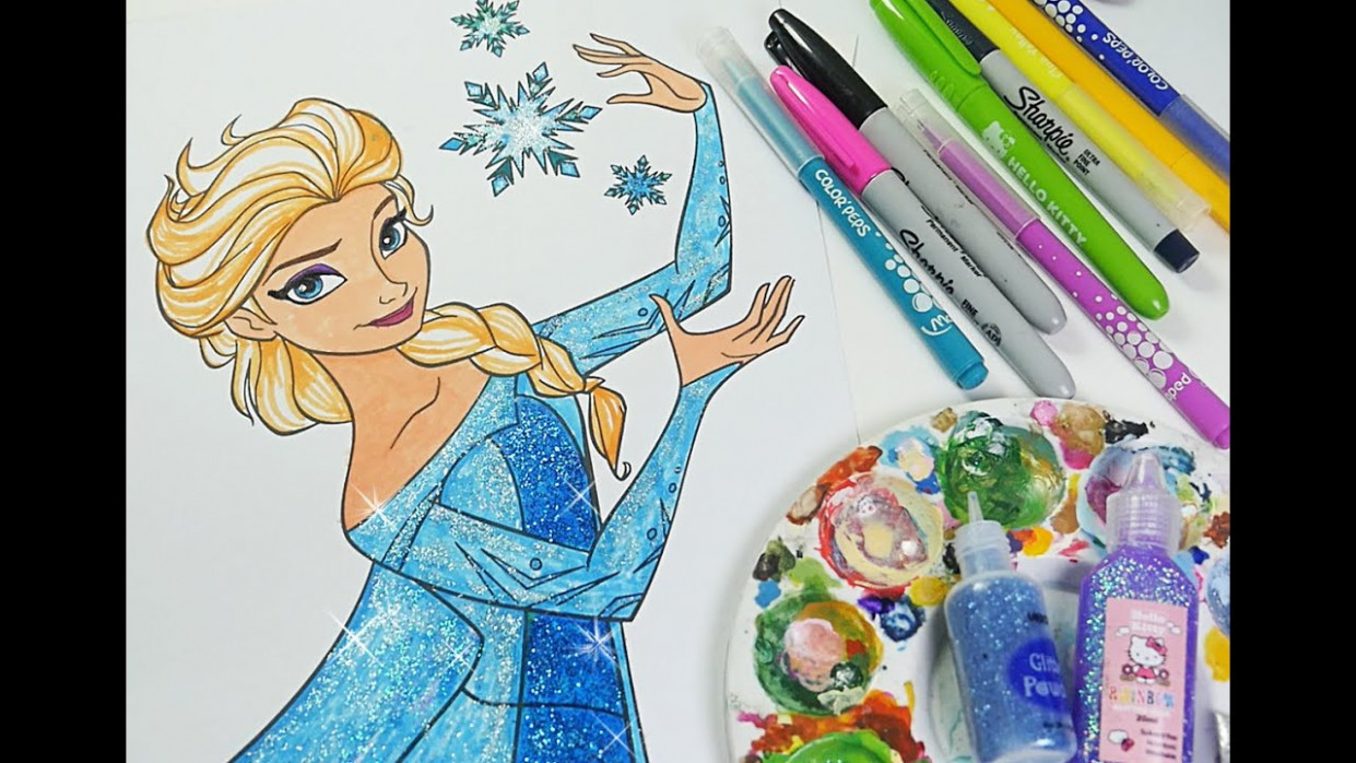 Disney Frozen coloring book Queen elsa coloring pages for kids - YouTube