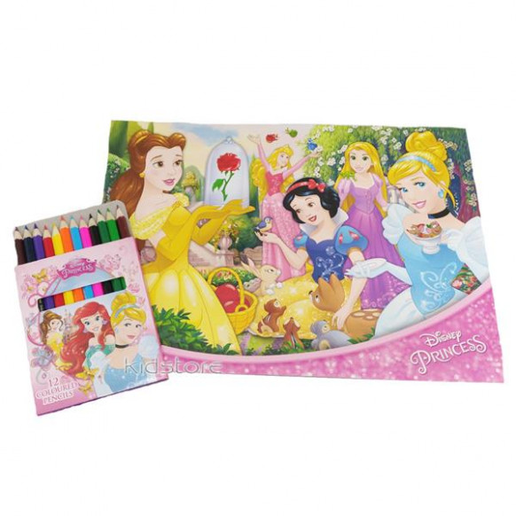 DISNEY PRINCESS COLORING BOOK WITH (end 16/116/20116 16:16 AM)