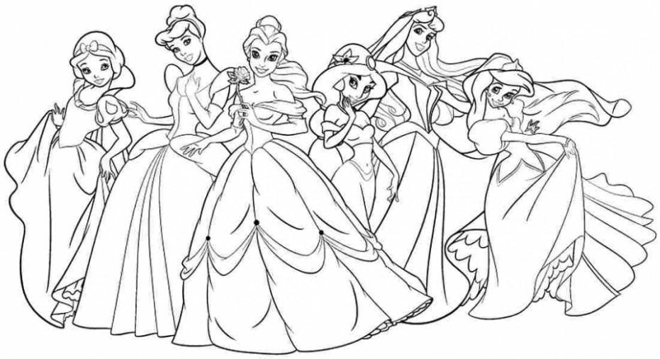 Disney Princess Coloring Books 16 #316116 – disney princess coloring book