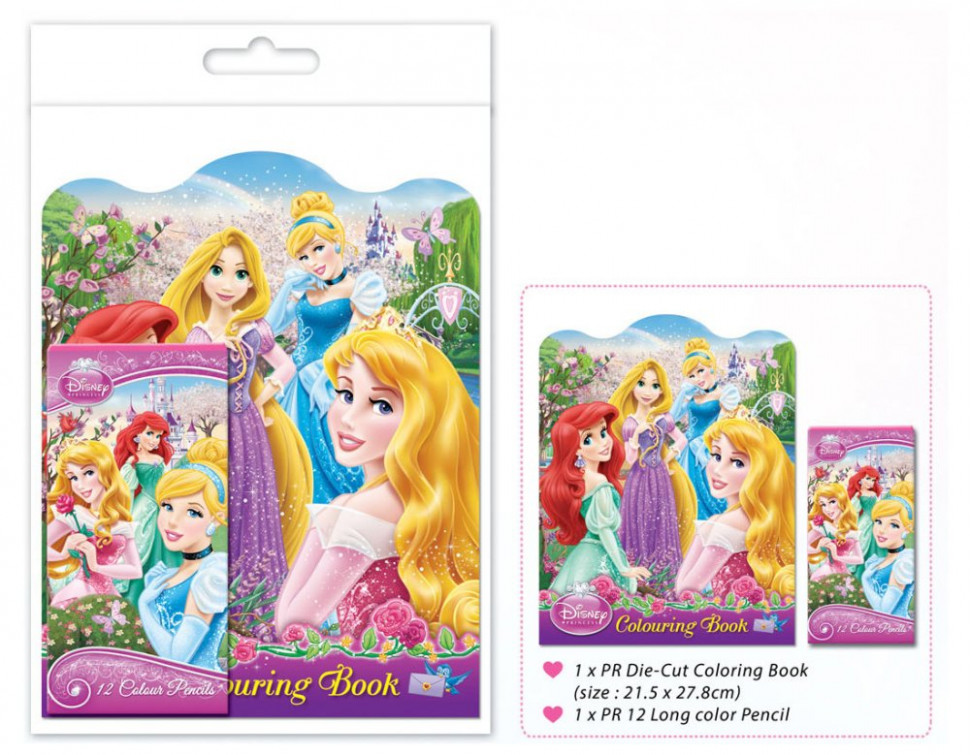 Disney Princess Colouring Book Set – Long – disney princess coloring book