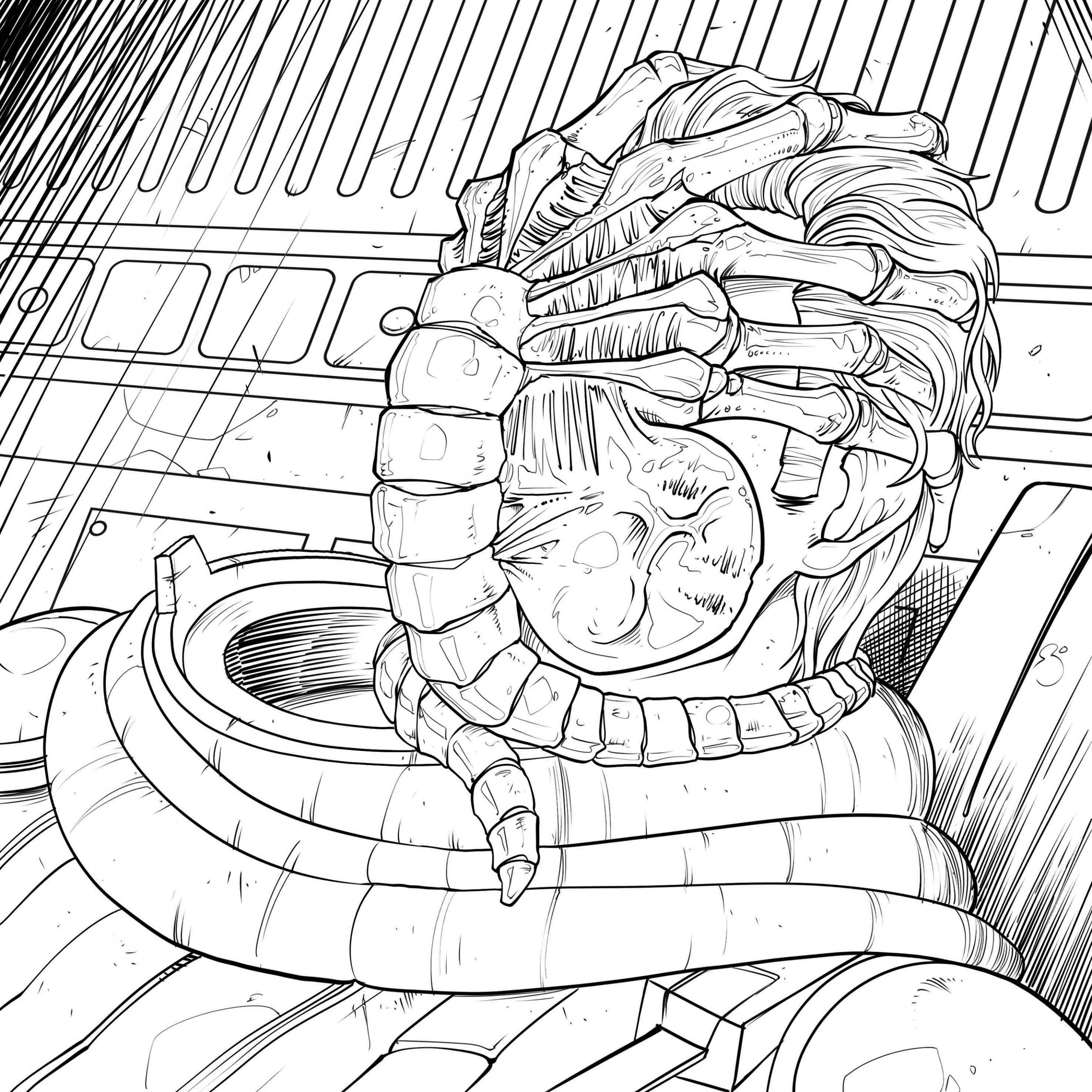 Download Four Exclusive 'Alien' Coloring Book Pages! - Bloody Disgusting