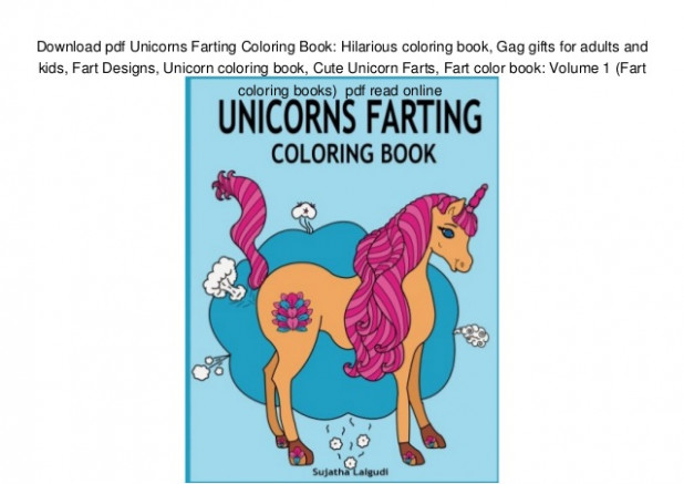 Download pdf Unicorns Farting Coloring Book: Hilarious coloring book,… – unicorn coloring book pdf