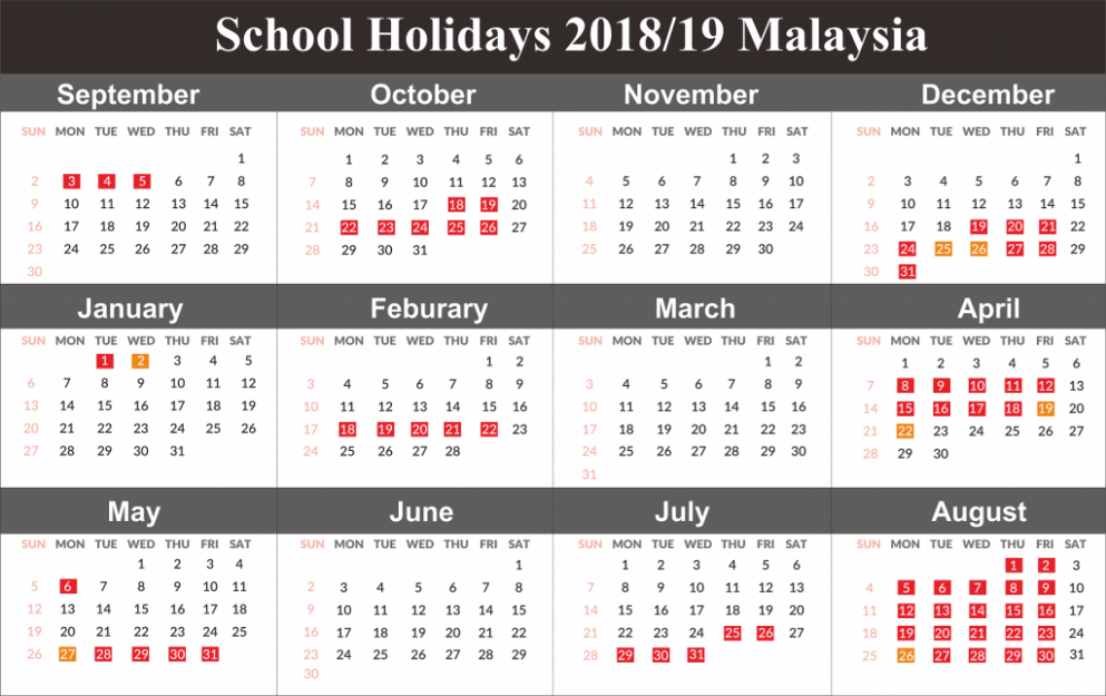 Download School Holiday 18 Malaysia | Free August 18 Calendar ...