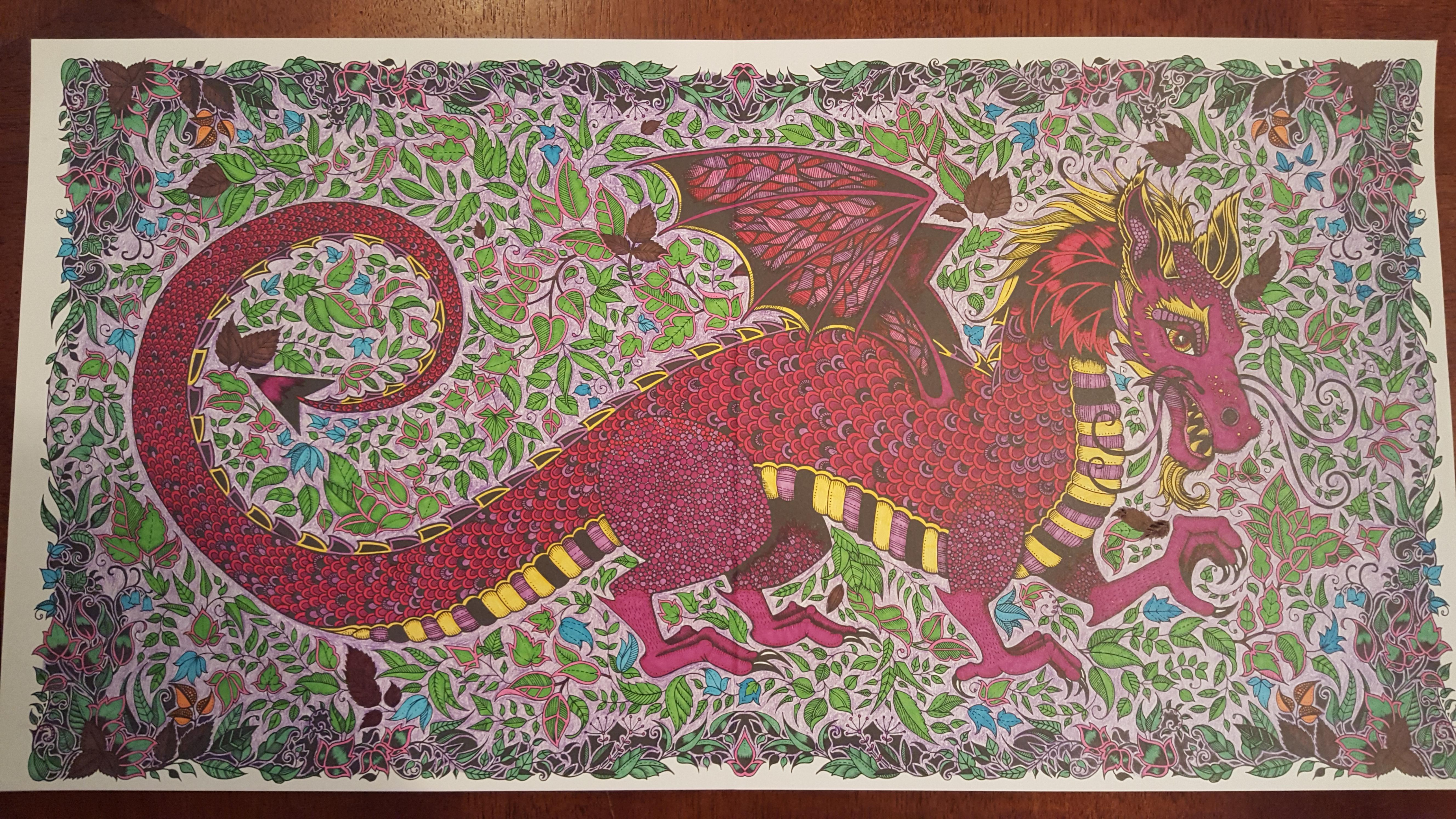 Dragon - Enchanted Forest Coloring Book - Imgur - enchanted forest coloring book