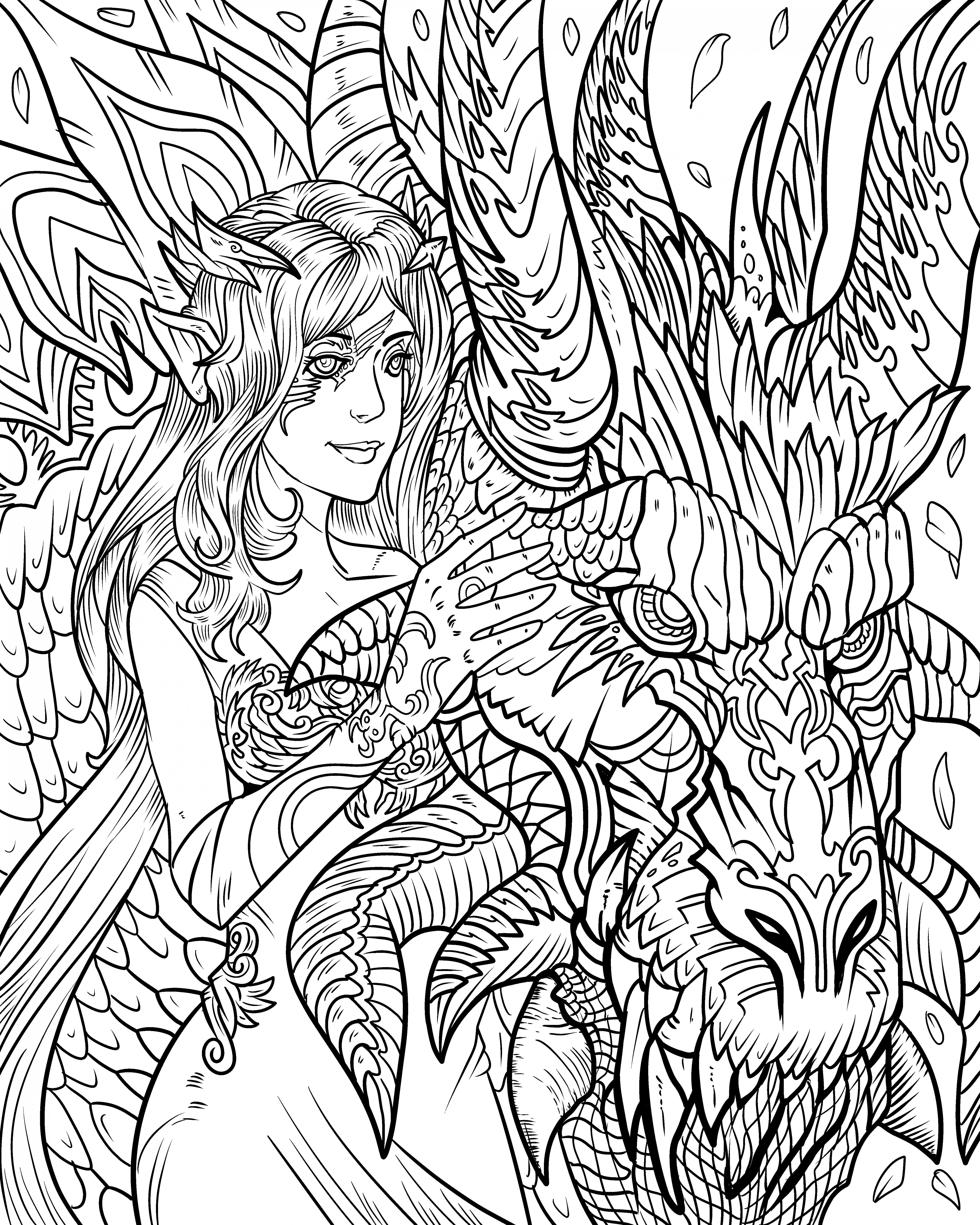 Dragon Life – Adult Coloring Books Nathaniel Wake Publishing – the coloring book