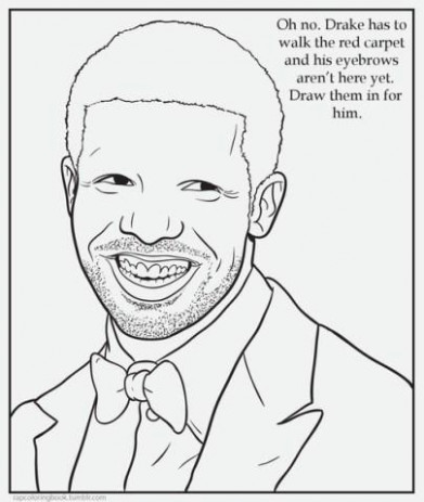 Drake's Eyebrows | Children's Coloring Book Parodies | Know Your Meme – meme coloring book