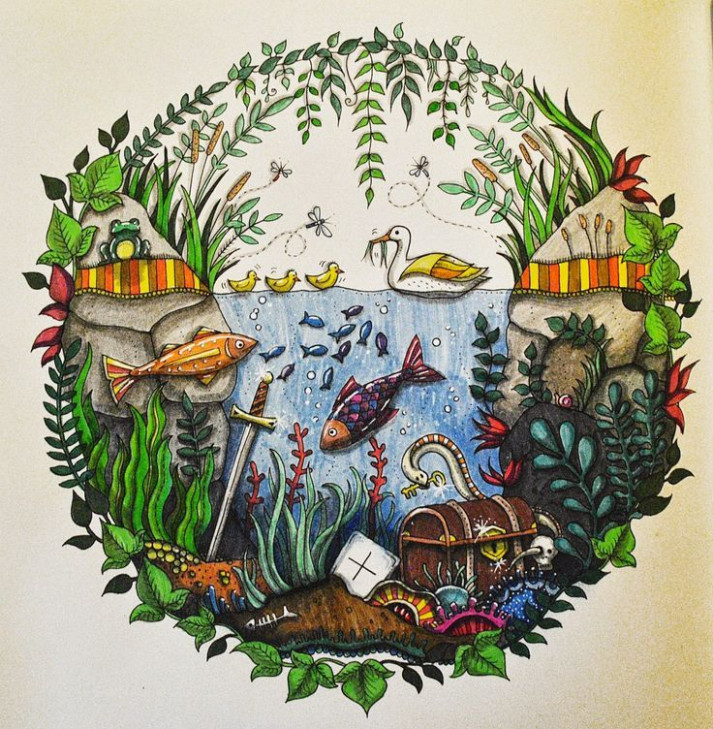 enchanted forest coloring book finished - Google Search | Color ...