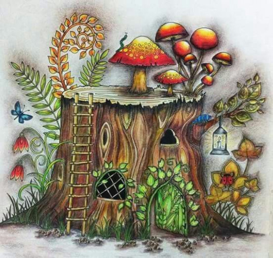 enchanted forest coloring book finished - Google Search | Color! in ...