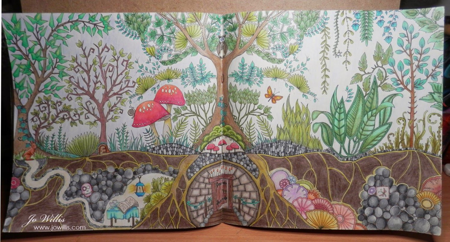 enchanted forest coloring book finished - Google Search | Johannah ...