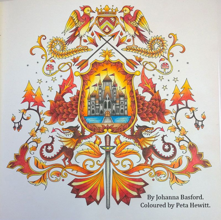 enchanted forest coloring book finished - Google Search | Lovely ...
