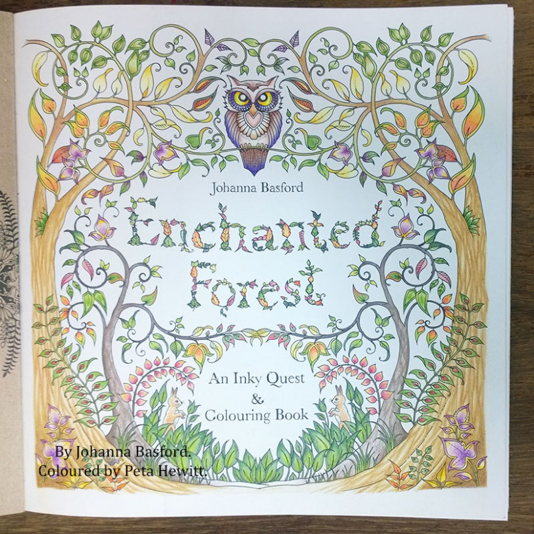 Enchanting pictures of Enchanted Forest. My first finished pages ..