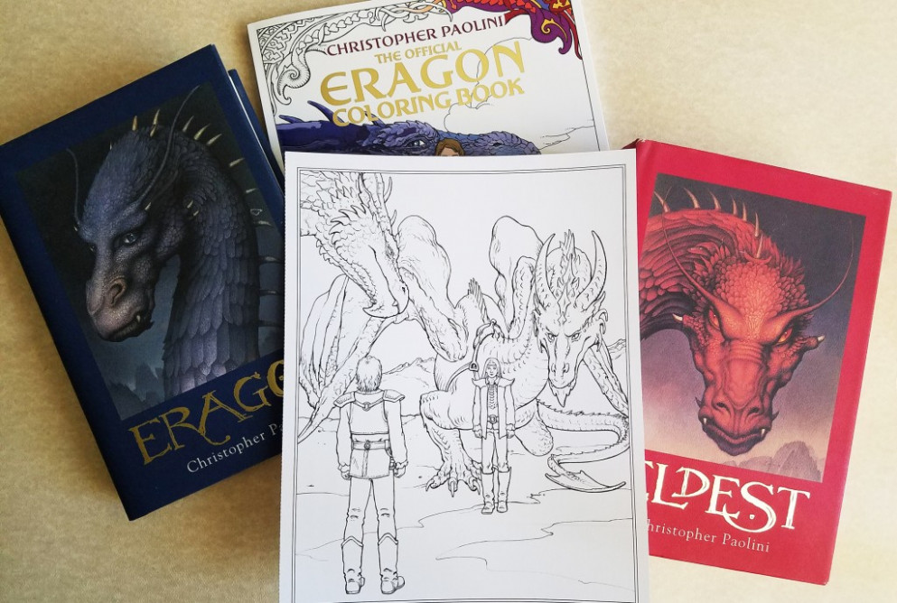 Eragon Coloring Book illustration reveal: 'Eragon and Saphira Meet ..