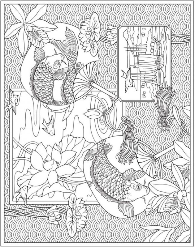Escapes Collage Art Coloring Book Page Freebie | New Dover ..