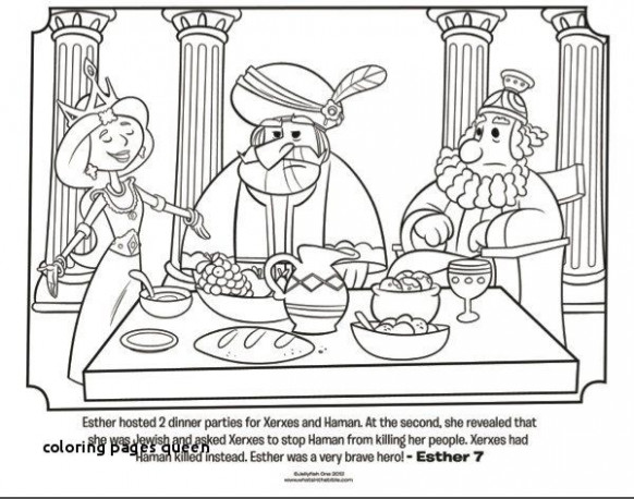 Esther Coloring Pages Lovely Coloring Pages Queen 17 Luxury Queen ...