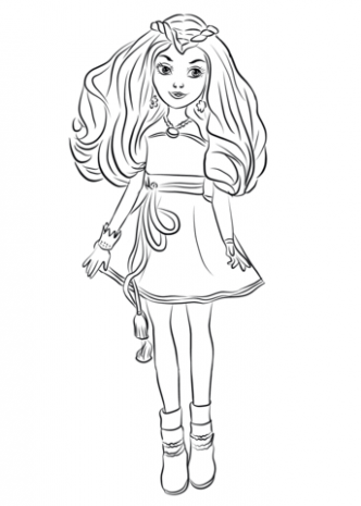 Evie from Descendants Wicked World coloring page | Free Printable ...
