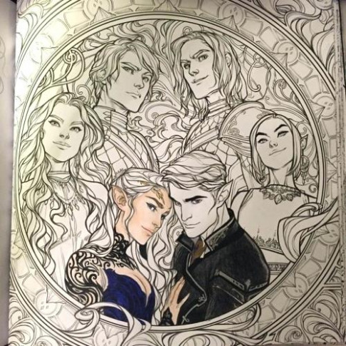 Excellent Ideas A Court Of Thorns And Roses Coloring Book A Court Of ..