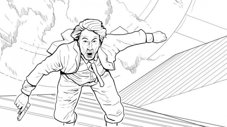 Exclusive: See a page from Doogie Horner's Die Hard coloring book – die hard coloring book
