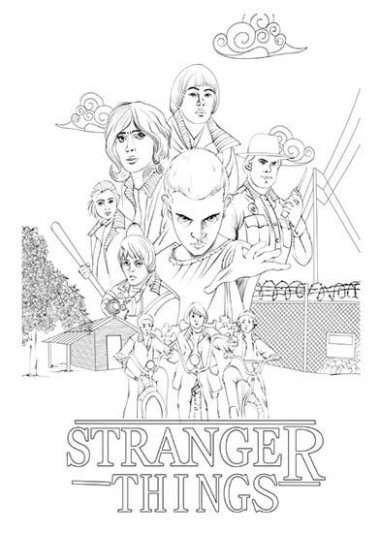 Exquisite Decoration Stranger Things Coloring Book 19 Collection Of ..