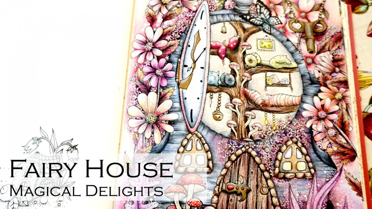 Fairy House | Adult Coloring Book: Magical Delights Carovne ..