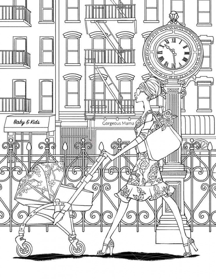 Fashion Forward: A Stress Relieving Adult Coloring Book ..