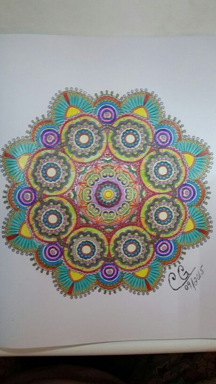 Finally done! Book : Colorama Coloring book Colored with ..