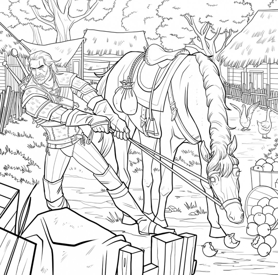 Finally, the Witcher Gets Its Own Coloring Book Complete With Bath ...