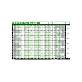 Financial 16-16 Fiscal Wall Planner Calendar with Pen and ..
