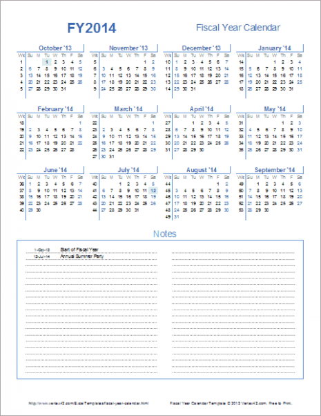 Fiscal Year Calendar Template for 15 and Beyond – Dell Fiscal Year 2019 Calendar