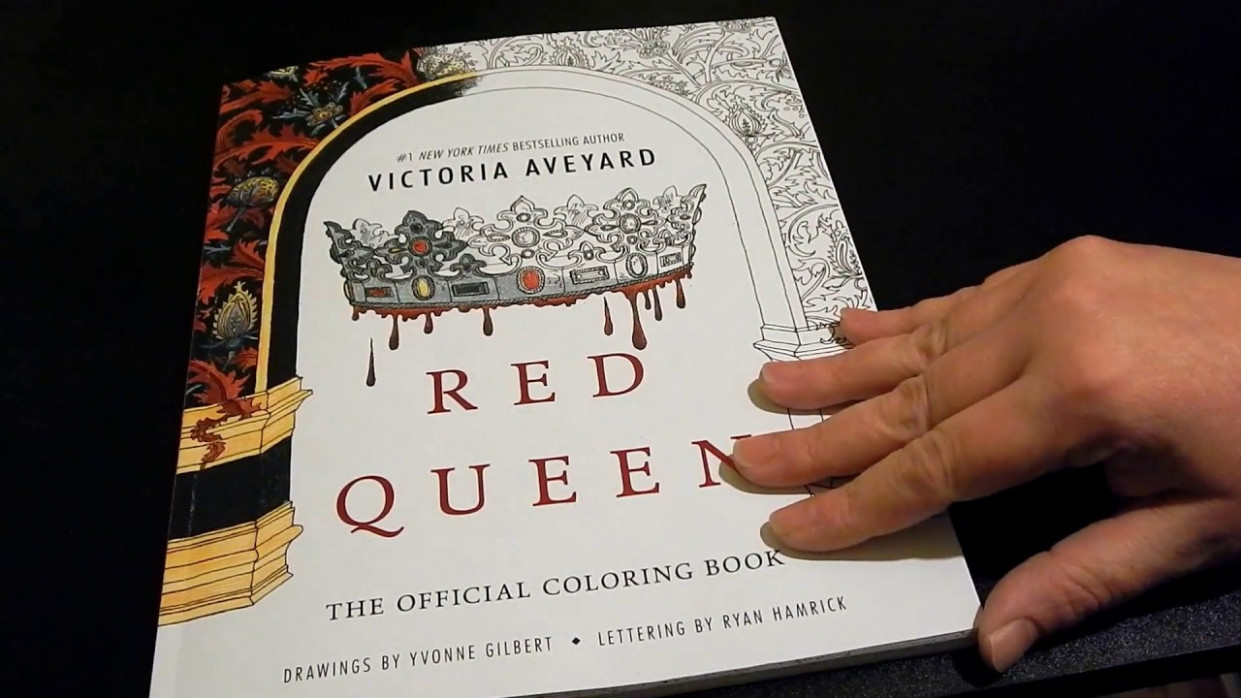 flip through – Red Queen the official coloring book – YouTube – red queen coloring book
