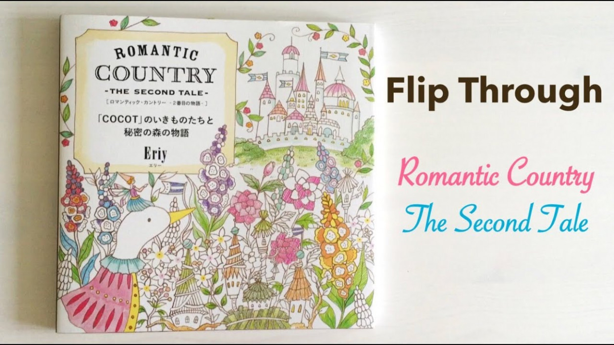 Flip Through: Romantic Country The Second Tale | Japanese Coloring ..
