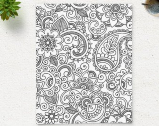 Floral Coloring Page Printable Floral Wall Art Adult Printable | Etsy – zen coloring book for adults download