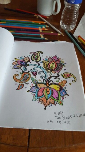 Flowers Paisley, I color from the Colorama Coloring Book ! | Zoey ..