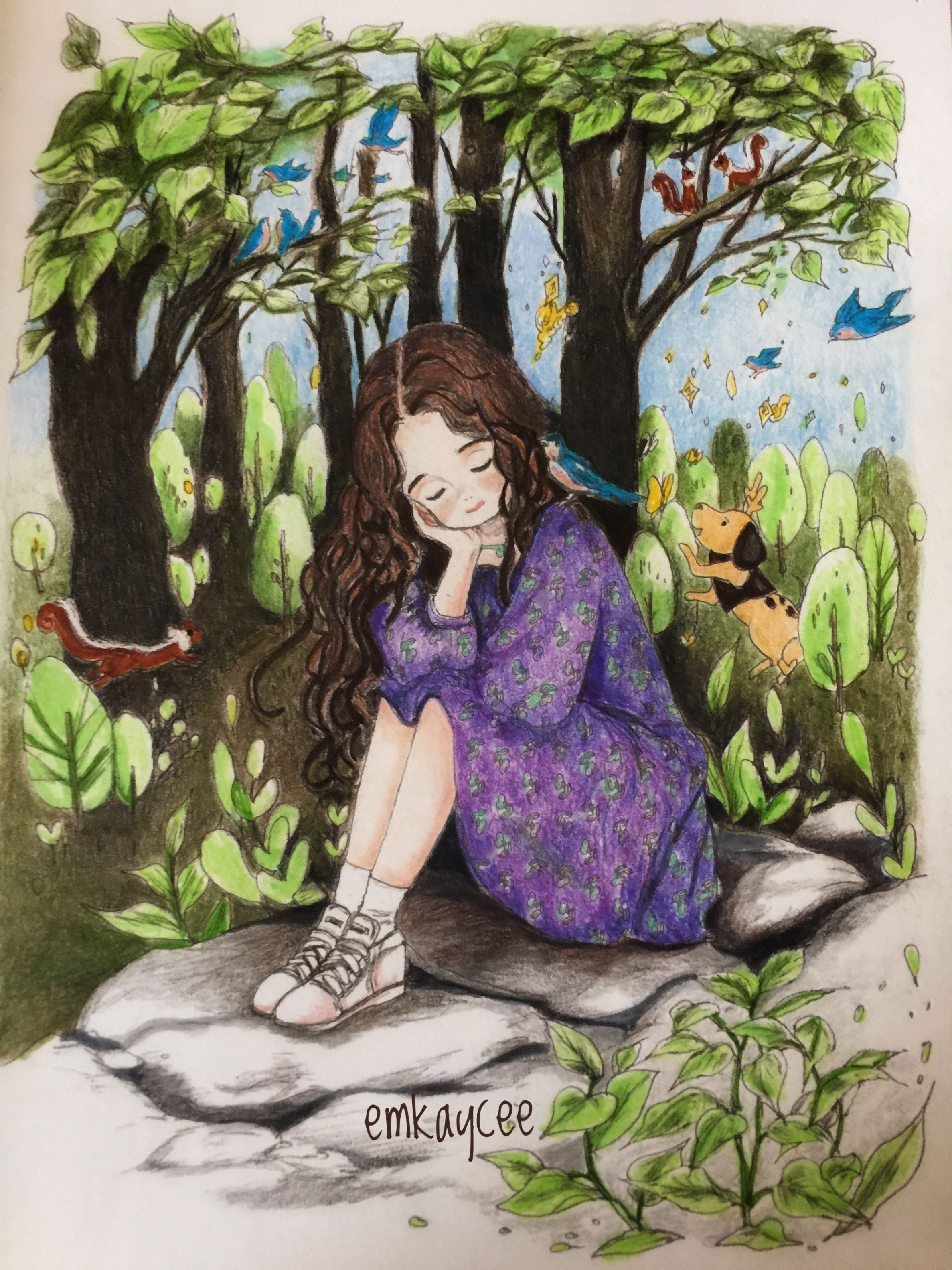 Forest Girl Coloring Book | Forrest girls in 14 | Pinterest ..