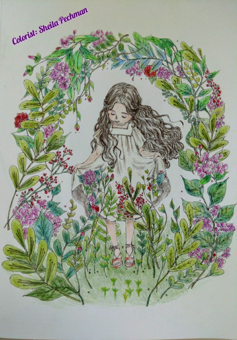 Forest Girl's Coloring Book Artist: Aeppol Colored by me on December ..