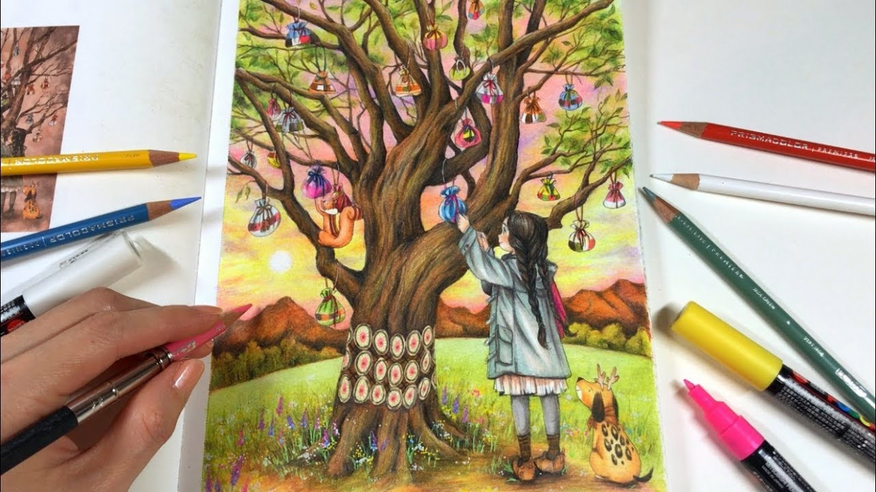 FOREST GIRL'S Coloring Book by Aeppol | Making My New Year's Wish ..
