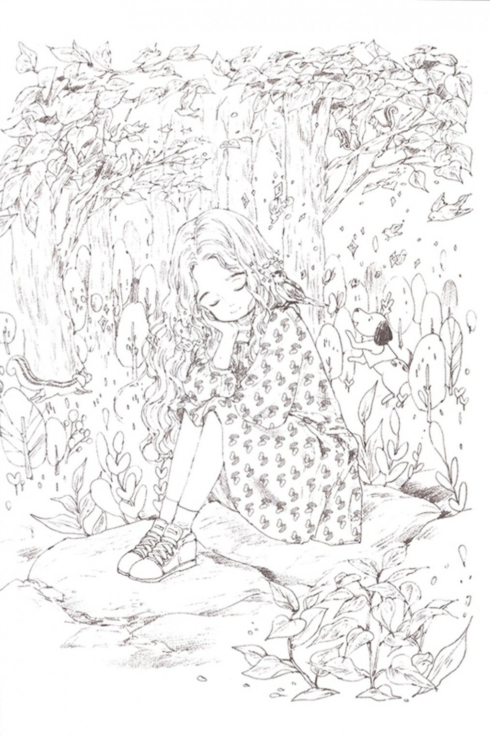Forest Girls Coloring Book Aeppol Painting Activity: Aeppol: Amazon ..