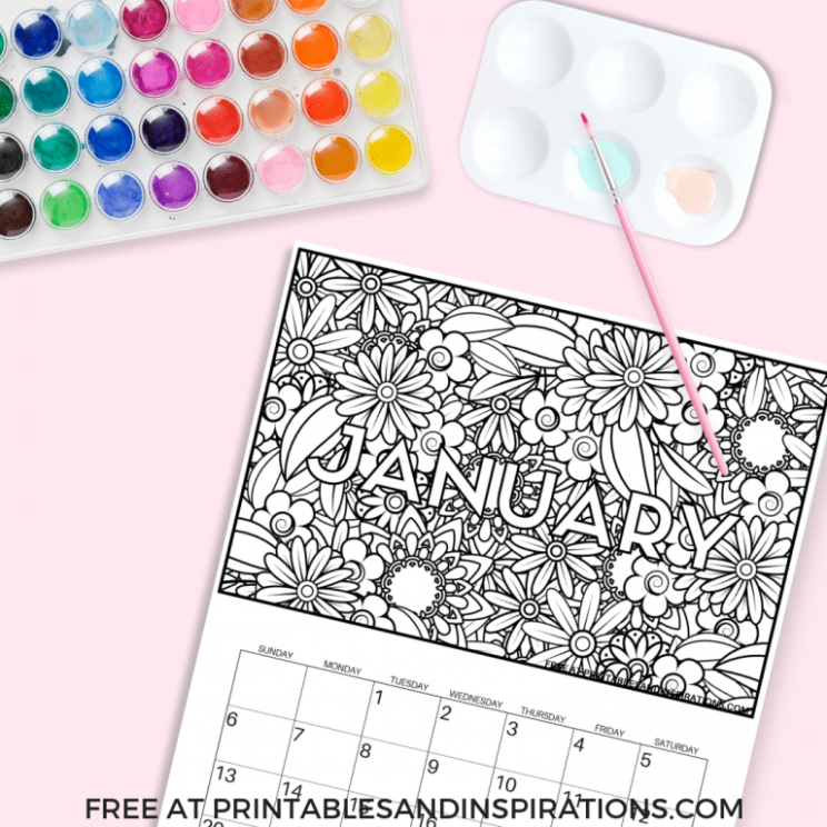 Free Calendar Coloring Pages For 17 | Free Printables | Pinterest ..