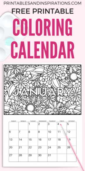 Free Calendar Coloring Pages For 19! – Printables and Inspirations – 2019 Coloring Calendar