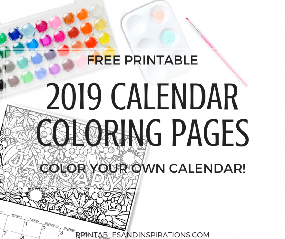 Free Calendar Coloring Pages For 19! - Printables and Inspirations