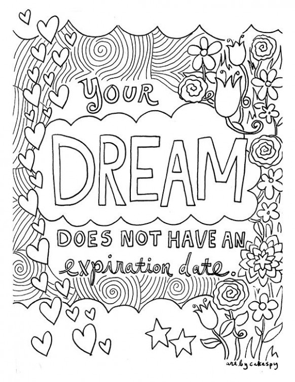 Free Coloring Book Pages: Inspirational Quotes | For Big People to ..